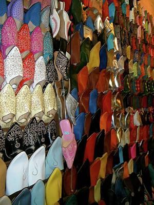 Exploramum Photograph - Moroccan Slippers by Exploramum Exploramum