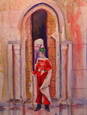 Moroccan Soldier Art Print by Joyce Kanyuk