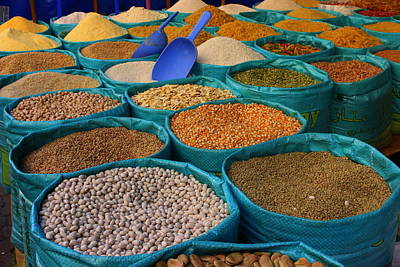 Photograph - Moroccan Spice Market by Ramona Johnston
