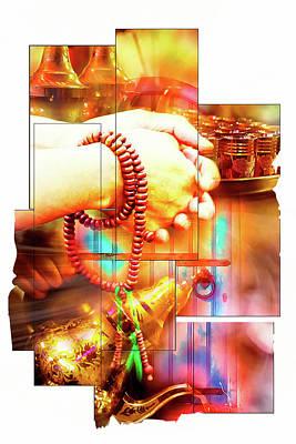 Abstract Digital Art Photograph - Moroccan Spirituality Theme by Tom Gowanlock