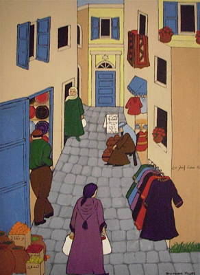 Painting - Moroccan Street Scene by Stephanie Moore