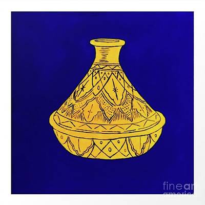 Vivid Colour Painting - Moroccan Tajine by Happy Home Artistry