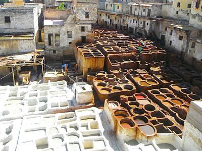 Exploramum Photograph - Moroccan Tannery by Exploramum Exploramum