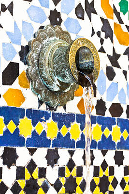Ceramic Design Photograph - Moroccan Tap by Tom Gowanlock