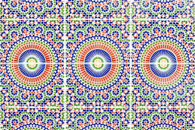 Ceramic Design Photograph - Moroccan Tiles by Tom Gowanlock
