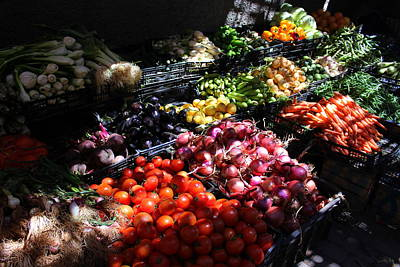 Photograph - Moroccan Vegetable Market by Ramona Johnston
