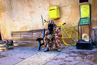 Photograph - Moroccan Vendor Taking A Break by Rene Triay Photography