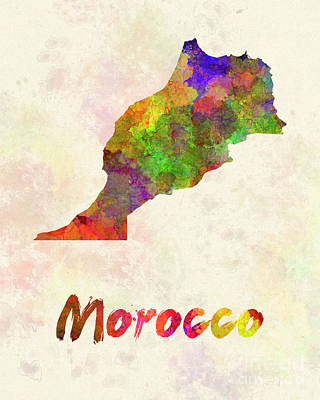 Morocco In Watercolor Art Print by Pablo Romero