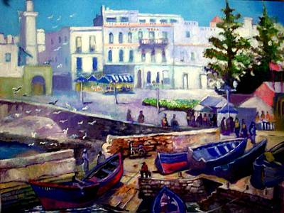 Painting -   Essaouira              Morocco by Paul Weerasekera