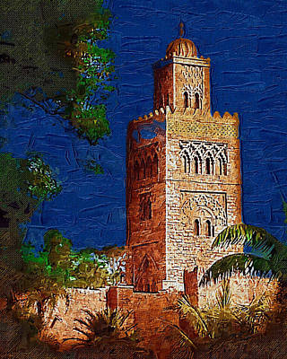 Digital Art - Morocco Pavilion In Epcot by Nora Martinez