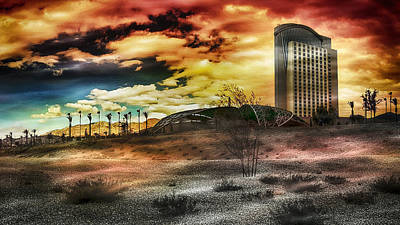 Photograph - Morongo Casino Sunset by Wayne Wood