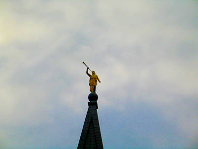 Digital Art - Moroni Steeple Angel by Susan Vineyard