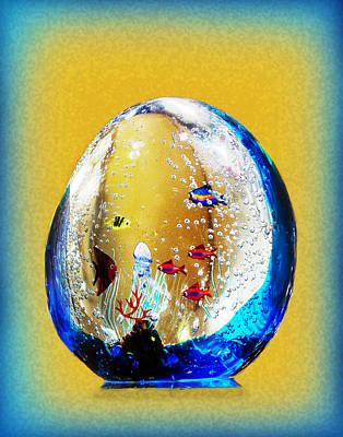 Murano Glass With Fish Original