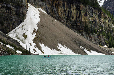Photograph - Morraine Lake Talus Slope by Bob Christopher