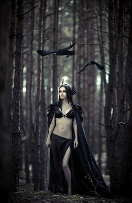 Warrior Goddess Photograph - Morrigan by Maryna Khomenko