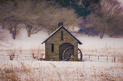 Snowy Digital Art - Morris Arboretum In Winter  by Bill Cannon