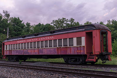 Photograph - Morris County Central Railroad Car by Terry DeLuco