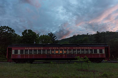 Photograph - Morris County Central Railroad Passenger Car  by Terry DeLuco