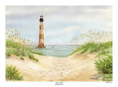 Morris Island Light House Art Print by Lane Owen