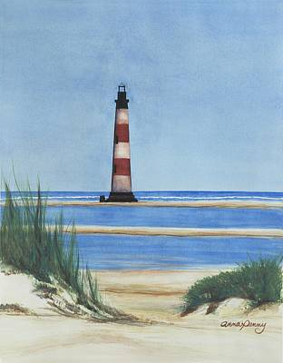 Sullivans Island Sc Painting - Morris Island Lighthouse by Anna Penny