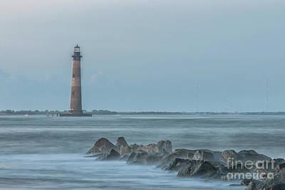 Photograph - Morris Island Lighthouse Folly Beach by Dale Powell