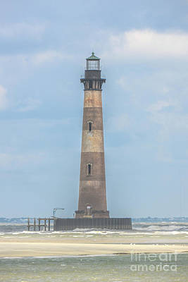 Photograph - Morris Island Lighthouse Grounding Protection by Dale Powell