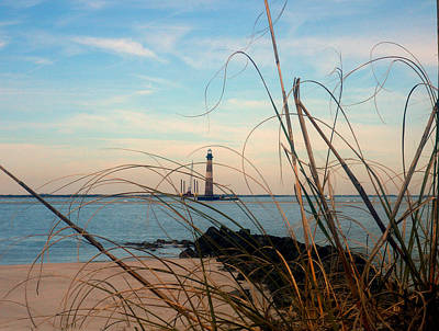 Morris Island Lighthouse Photograph - Morris Island Lighthouse In Charleston Sc by Susanne Van Hulst