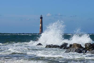 Photograph - Morris Island Lighthouse Splash by Jennifer White