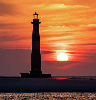 Photograph - Morris Island Lighthouse Sunrise by Donnie Whitaker