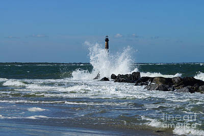 Photograph - Morris Lighthouse Splash by Jennifer White
