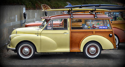 Photograph - Morris Minor 1000 Woody Wagon by AJ Schibig