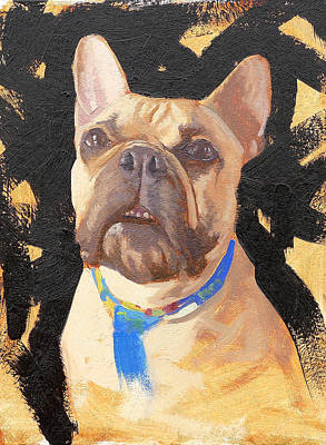 French Bull Dog Wall Art - Painting - Morris The French Bull Dog by Taylor Paints