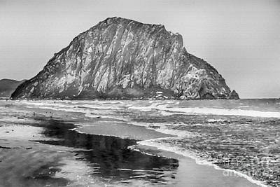 Painting - Morro Bay Black And White by David Millenheft