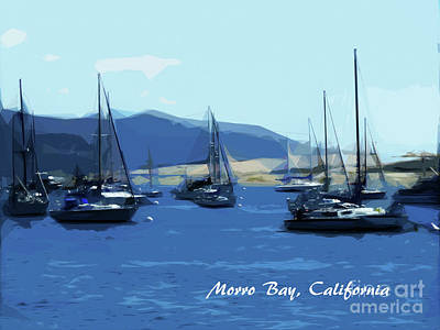Digital Art - Morro Bay California by Methune Hively