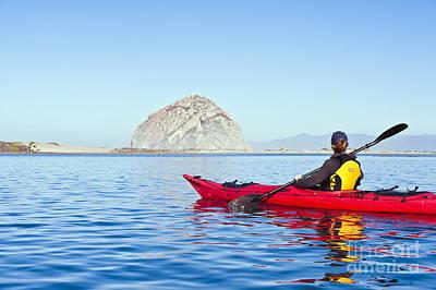 Bill Brennan Photograph - Morro Bay Kayaker by Bill Brennan - Printscapes