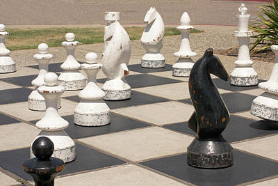 Morro Bay Outdoor Chess Art Print by Art Block Collections