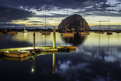 Morro Bay Reflections Art Print by Jan and Burt Williams