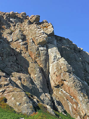 Photograph - Morro Bay Rock Lower Section by Bill Owen