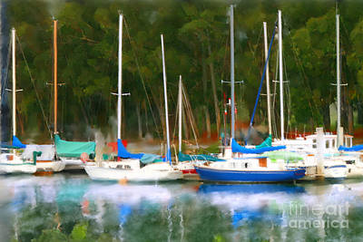 Photograph - Morro Bay Sail Boats by Lisa Redfern