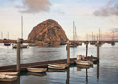 Digital Art - Morro Bay Small Pier by Sharon Foster