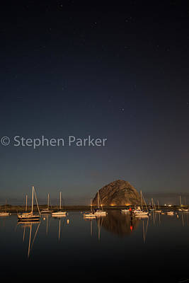 Photograph - Morro Bay Starscape 8b5229 by Stephen Parker