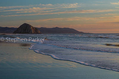 Photograph - Morro Rock 8b5424 by Stephen Parker