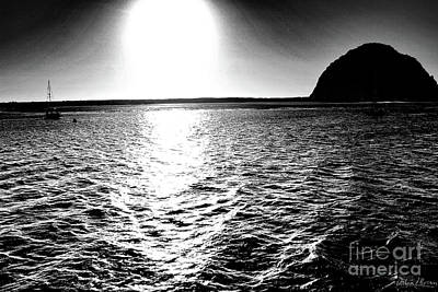 Morro Rock, Black And White Art Print