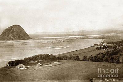 Photograph - Morro Rock California Circa 1890 by California Views Archives Mr Pat Hathaway Archives