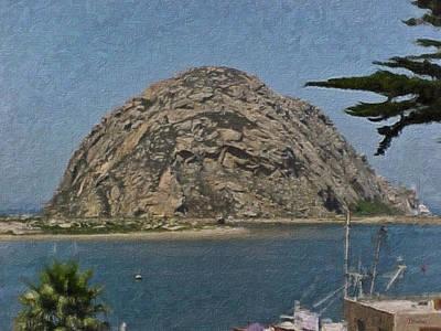 Morro Rock California Painting Art Print by Teresa Mucha