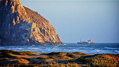 Photograph - Fishing Trawler At Morro Rock by Flying Z Photography by Zayne Diamond
