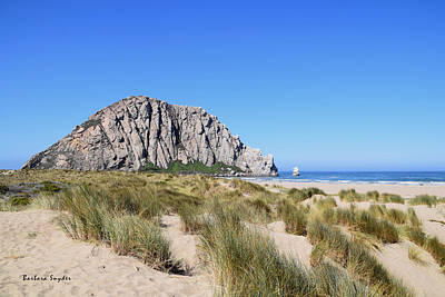 Painting - Morro Rock From The Dunes 2 by Barbara Snyder