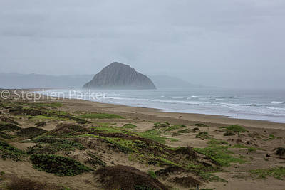 Photograph - Morro Rock Morning 8b5258 by Stephen Parker