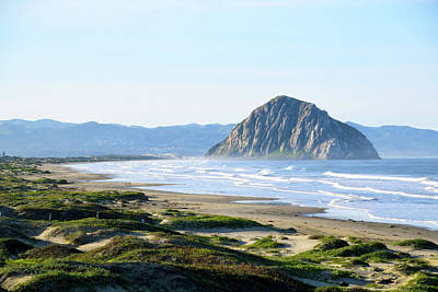 Photograph - Morro Rock Morning Haze 2 by Floyd Snyder