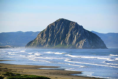 Photograph - Morro Rock Morning Haze by Floyd Snyder